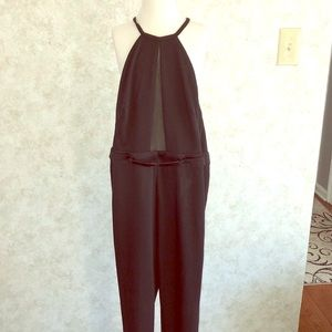 Black long pant romper